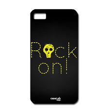 "CUSTODIA COVER CASE ROCK ON TESCHIO GIALLO PER iPHONE 6 PLUS 5.5"""