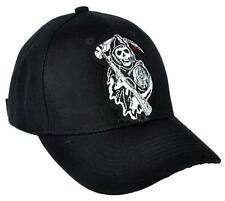 Sons of Anarchy Hat Baseball Cap Biker Grim Reaper Clothing Hell's Angels Metal