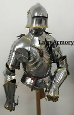 Medieval Knight Suit of Armor Wearable Halloween Costume With helmet Suit