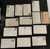 Lot of 14 Original Vintage Postcards - Comic/Humor - Alcohol, Drinking, Poetry+