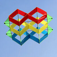 NEW 47-In power box 3D kite /single line Outdoor fun Sports stunt kites Toys
