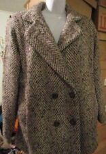 Tradition by Sears Vint Wool Double Breasted Swagger Style Coat with Pleats 10