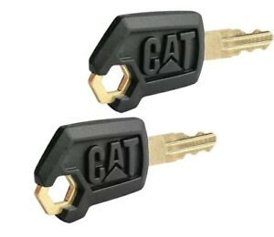 (2) Caterpillar Heavy Equipment Keys CAT Excavator, CAT Dozer, CAT Roller Key
