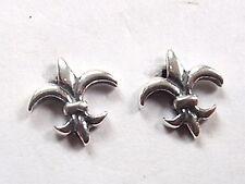 Fleur de Lis Stud Earrings 925 Sterling Silver Corona Sun Jewelry lily flower