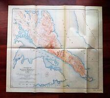 1914 Topographic Map of Kassaan Peninsula Prince of Whales Island Alaska