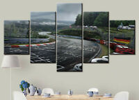 Nurburgring Rally Road 5 Pieces Canvas Wall Art Poster Print Home Decor