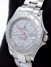 Rolex Yacht Master 168622 35mm Steel Oyster Perpetual Platinum Bezel Watch MINT*