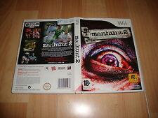 MANHUNT 2 SURVIVAL HORROR UNCENSORED VER. GAME PARA NINTENDO Wii USADO COMPLETO