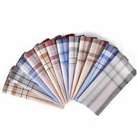 Handkerchiefs for Men, Ohuhu 100% Pure Cotton Men's Handkerchiefs 12 Piece Gift