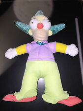 """THE SIMPSONS  KRUSTY THE CLOWN SOFT TOY 10"""""""