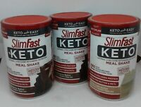 Slimfast Keto Meal Replacement Powder 2-Fudge Brownie Batter,1-VanillaCakeBatter