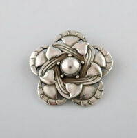 Rare art noveau brooch in sterling silver by Georg Jensen. Design number 12