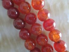 "8mm red Dragon Veins Agate Round Gemstones Loose Beads 15"" AAA##HK1161"