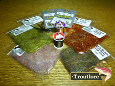 10 PC SCUD KIT #2 - THREAD, HOOKS, DUBBING PACK NEW FLY TYING MATERIALS SUPPLIES