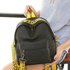 Off White Crossbody Backpack,Unisex Color Belt, Bag, Young, Casual Backpack