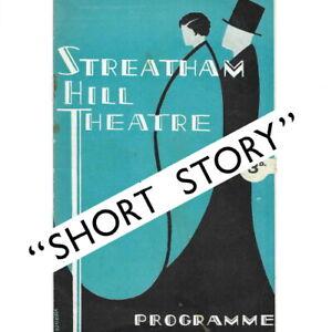 1936 Streatham theatre programme Margaret Rutherford Marie Tempest Robert Donat
