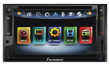 "FARENHEIT 2 DIN 6.5"" TOUCH SCREEN DVD/CD/MP3/USB PLAYER BLUETOOTH IPOD CONTROLS"
