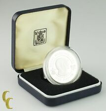 1981 Bermuda Sterling Silver Royal Wedding Prince Charles & Lady Diana Round Box