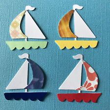 Sailboat Yatchs Boats Sailing Training Beach Sea Ocean Die Cuts (Card Toppers)