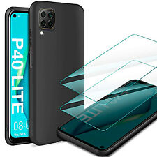 Cover For Huawei P40 Lite/Pro Case TPU Case Cover Slim+Film Tempered Glass
