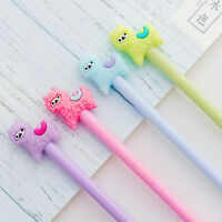 8pcs Kawaii Alpaca Black Gel Ink Roller Ball Point Pen Korean School Kids Pens