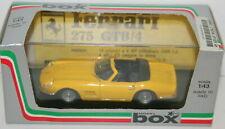 BOX MODEL 1/43 8418 - FERRARI 275 GTB/4  SPYDER - YELLOW