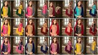 Designer Plazo Salwar Kameez Bollywood Indian Suit Shalwar Ethnic Party Dress FM
