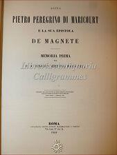 Astronomia: PIETRO PEREGRINO MARICOURT Epistola de MAGNETE 1868 Timoteo Bertelli