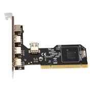 HIGH SPEED USB 2.0 PCI Expansion Card 4 External Ports With Internal Port GP3Z