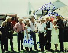 DALLAS - PATRICK DUFFY & LARRY HAGMAN AUTOGRAPH SIGNED PP PHOTO POSTER