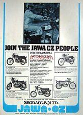 1976 'JAWA & CZ' Range of Motor Cycles ADVERT (487M) - Original Print Ad