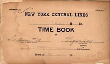 NEW YORK CENTRAL LS&MS TIME BOOK LIGONIER 1909 TIMEBOOK