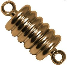 10 Pair Neodymium Magnet Jewelry Clasps GOLD RIBBED