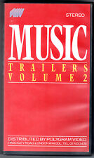 Music Trailers Volume 2 (1984) VHS Polygram  Ed. Inglese