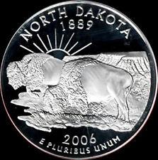 2006 S 90% Silver North Dakota State Quarter Deep Cameo Gem Proof No Reserve