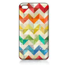 Rainbow Chevron Art Printed iPhone 4/4S Case for Apple iPhone 4s