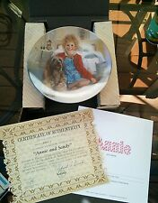 """Limited Edition """"Annie and Sandy"""" Annie Collectors Plate Series #19928"""