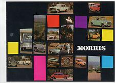 1971 Morris brochure: Mini/Clubman/1275 GT, 1100/1300, 1800, Minor 1000, Oxford