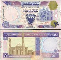 BAHRAIN 20 DINARS L.1973 (1998) P 16 UNC