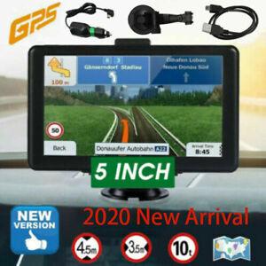 """5"""" Truck Car GPS Navigation 8GB Navigator SAT NAV Free US EU Map Touch Screen FM"""