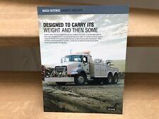 Mack Defense Granite Wrecker military recovery truck brochure