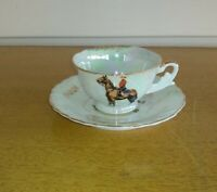 Canadian Royal Mountie Demitasse cup and saucer Lusterware Japan
