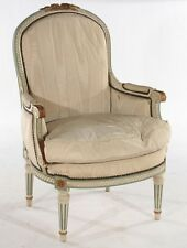 FRENCH LOUIS XVI STYLE BERGERE CHAIR C.1920 Lot 95
