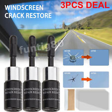 3*SET Automotive Glass Nano Repair Fluid Car Window Glass Crack Chip Repair Tool