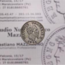 50 Centesimi 1863 M BN Valore (Regno Ita Vitt Em II) qBB LOT1749