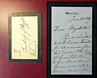 1869 Queen Victoria handwritten, signed 3 page letter to the Duchess of Argyll