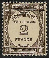 France - Timbre-Taxe - Recouvrements - N° 62 Neuf avec charnière.