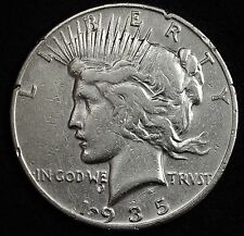 1935-s Peace Silver Dollar.  High Grade Detail.  104955