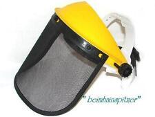 Gesichtsschutz + Stirnschutz mit Netz-Visier  Kettensäge Trimmer Flex