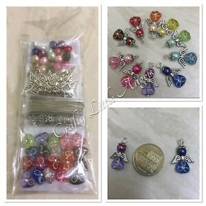 Kit To Make Your Own Angel Charms, Kit Makes 20 Multicoloured Angels SALE